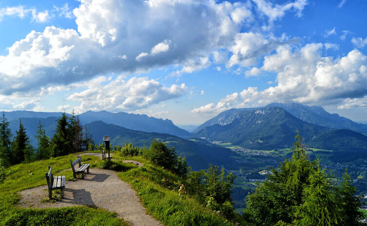 Aussicht vom Grünstein Gipfel