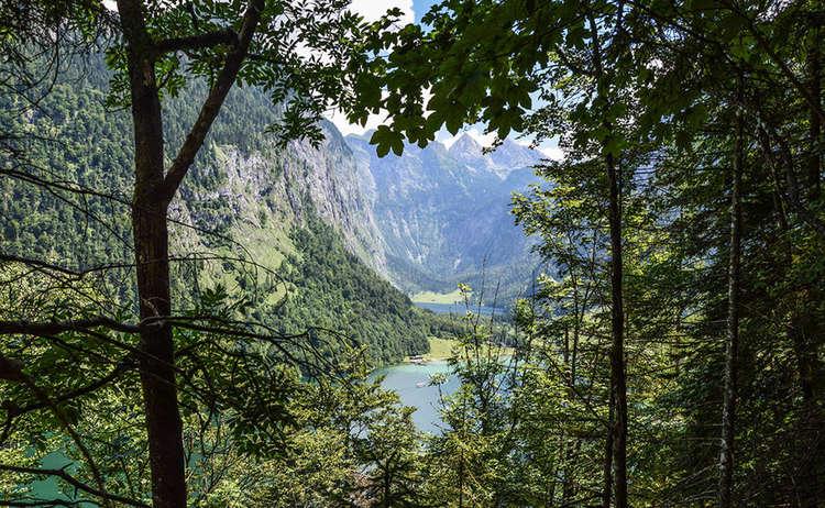 Blick Zum Koenigssee Und Obersee Im Aufstieg