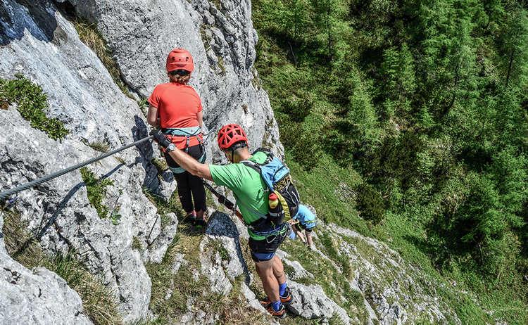 Schützensteig: Familien Klettersteig am Jenner