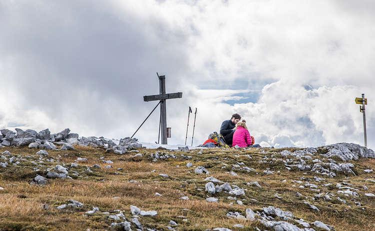 Gipfelrast auf dem Hohen Brett