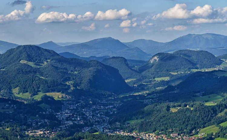 Blick vom Grünstein über Berchtesgaden