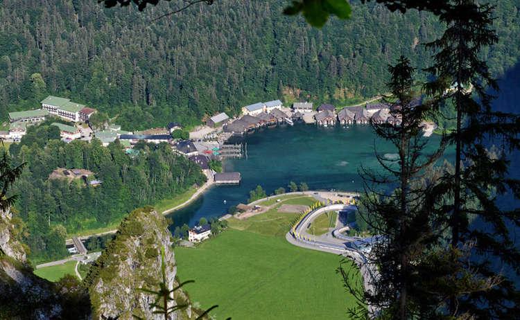 Tiefblick zum Königssee vom Grünstein