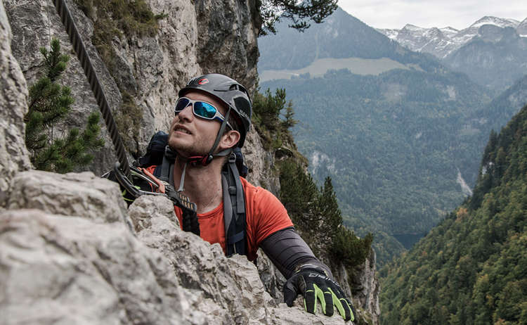 Gruenstein Klettersteig Jannis