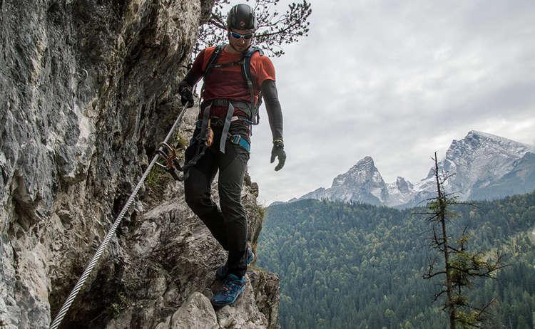 Gruenstein Klettersteig Querung