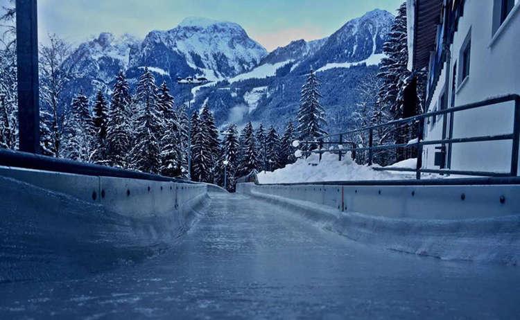 Blick vom Herrenstart in den Eiskanal