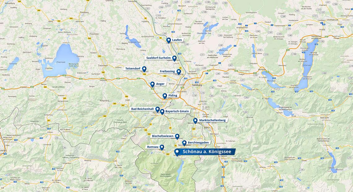 Karte Schoenau