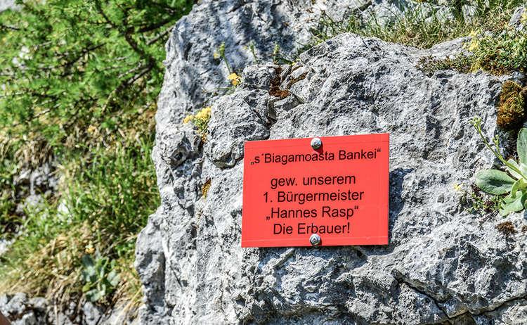 """""""s'Biagamoasta Bankei"""" im Schützensteig"""
