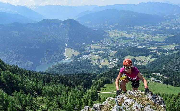 Schützensteig : Klettersteig am Jenner mit Tiefblick zum Königssee