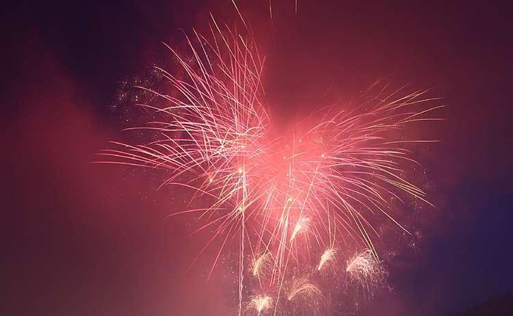 Höhepunkt: Das Feuerwerk am Sonntag