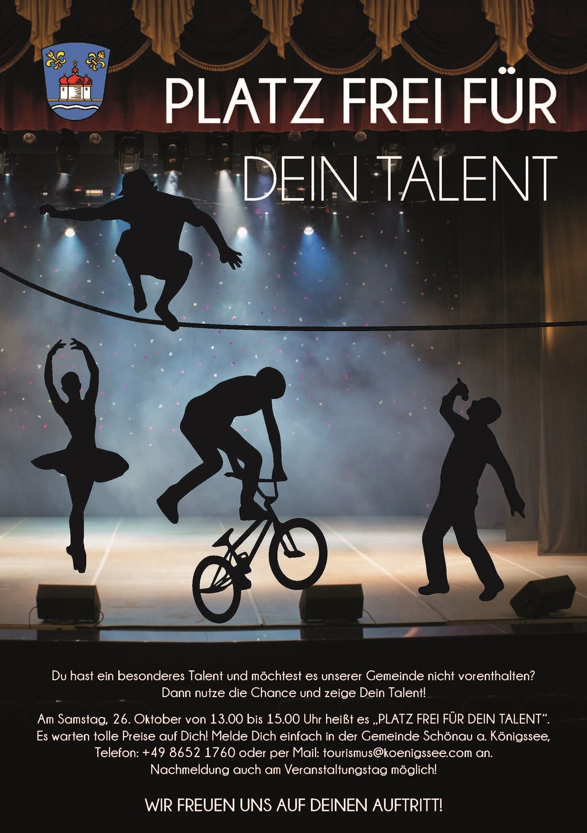 Platz frei für dein Talent