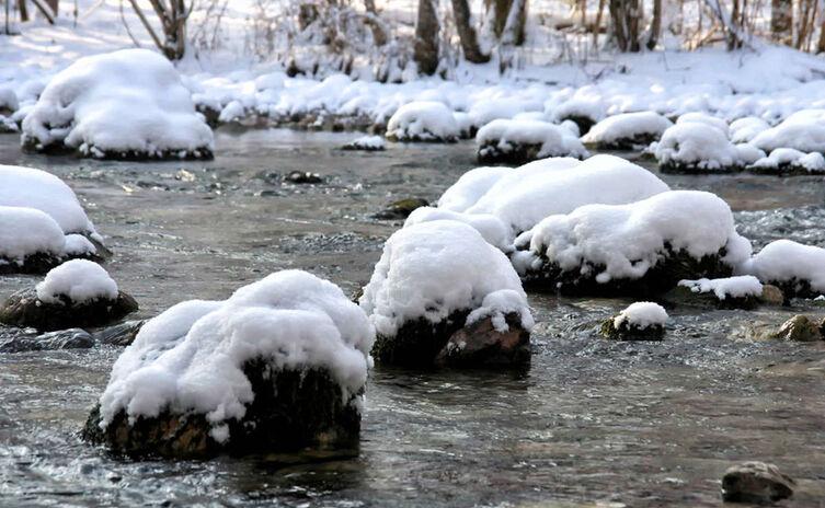 Schnee Koenigsseer Ache Koenigsseer Fussweg