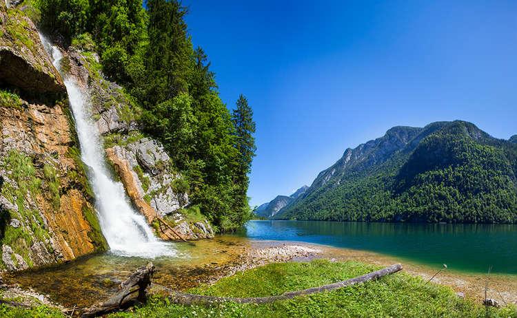 Schrainbach Wasserfall Koenigssee Nationalpar Berchtesgaden