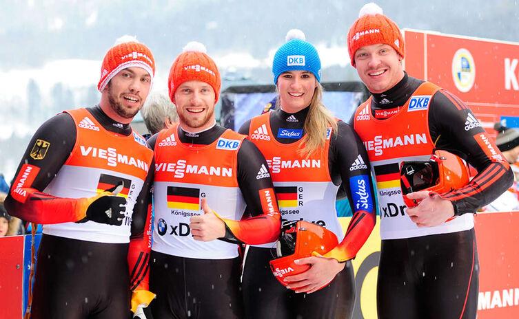 Sieger Team Wettbewerb der Rodler 2015 am Königssee