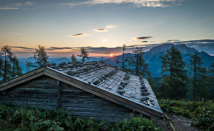 Sonnenuntergang Falzalm Watzmannhaus Wanderung