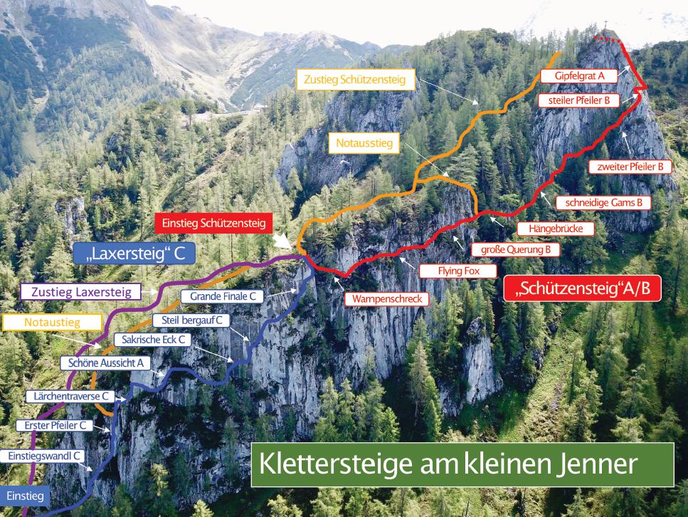 Topografie Laxer- und Schützensteig