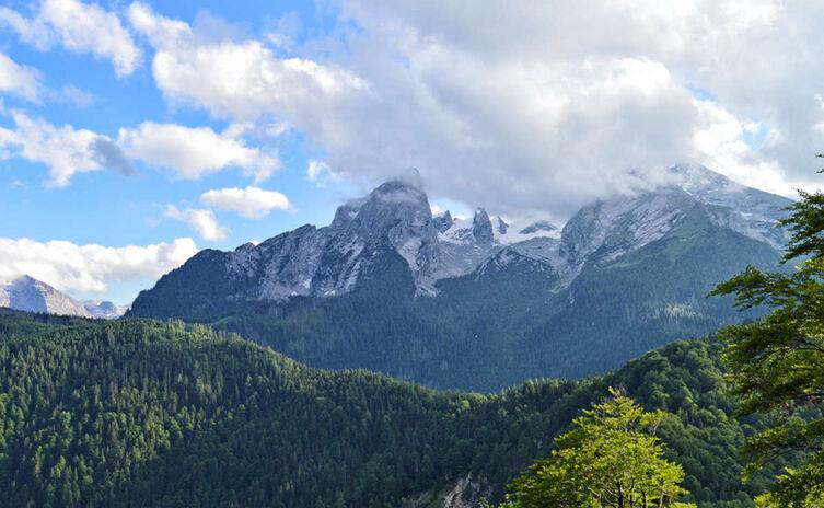 Blick vom Grünstein zum Watzmann